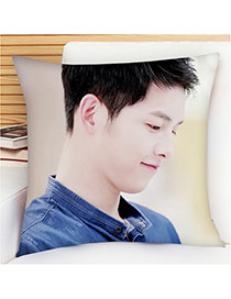 Fashion Purple Soldier Pattern Pillow Cases Dots Descendants Of The Sun