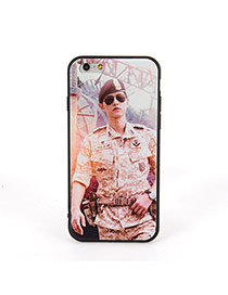 Fashion Yellow Soldier Pattern Decorated Dots Descendants Of The Sun Silicone Iphone 6