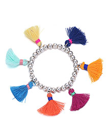 Elegant Multi-colour Pearls Decorated Tassel Design  Alloy Korean Fashion Bracelet