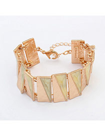 Fashion Beige Triangle Matching Decorated Simple Design Alloy Korean Fashion Bracelet