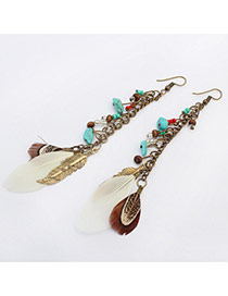Fashion Bronze Multielement Pendant Decorated Simple Design Alloy Korean Earrings