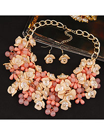 Sweet Multi-color Flower Weaving Decorated Simple Jewelry Sets