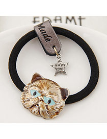 Fashion Gray Metal Owl&star Pendant Decorated Simple Hair Band