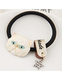 Fashion Beige Metal Owl&star Pendant Decorated Simple Hair Band