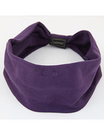 Fashion Purple Pure Color Design Wide-brimmed Casual Hair Band