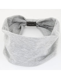 Fashion Light Gray Pure Color Design Wide-brimmed Casual Hair Band