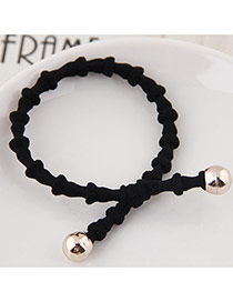 Elegant Black Pure Color Design Bamboo Joint Shape Simple Hair Band