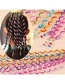 Fashion Multi-color Spiral Shape Design Simple Beads Hair Accessories (1pcs)