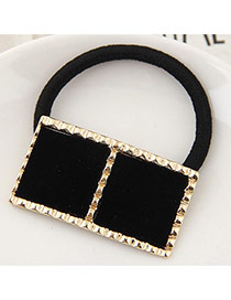 Temperament Black Square Shape Decorated Hair Hoop &hair Band