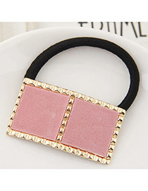 Temperament Pink Square Shape Decorated Hair Hoop &hair Band