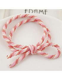 Trendy Multi-color Zebra Pattern Decorated Double Layer Design Hairband