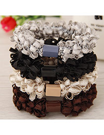 Sweet Random Pure Color Decorated Flower Design Simple Hair Hoop&hair Band(1pcs)