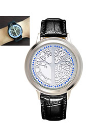 Fashion White Metal Tree Decorated Touch Screen Watch