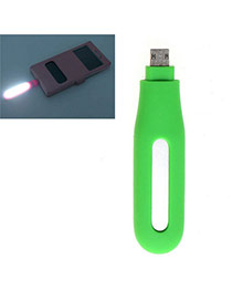Trendy Cyan Pure Color Design Hollow Out Led Fill Light Artifact (android)