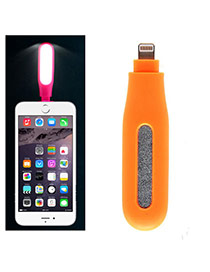 Fashion Orange Pure Color Design Portable Mini Led Fill Light Artifact (iphone5/6/6s/plus)