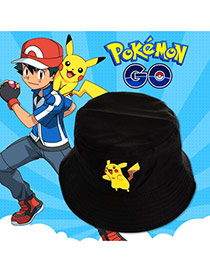 Fashion Balck Pokemon Go Pattern Decorated Bucket Hat