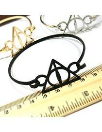 Elegant Black Pure Color Design Geometric Shape Bracelet