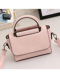 Vintage Pink Pure Color Design Square Shape Simple Shoulder Bag