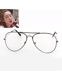 Fashion Gray Irregular Frame Decorated Thin Leg Simple Glasses