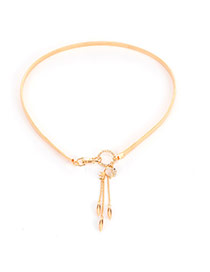 Delicate Gold Color Metal Fish Pendant Decoarted Tassel Simple Belt