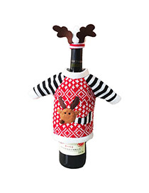 Lovely Red Cartoon Pattern Decorated Snowman Design Simple Wine Cooler
