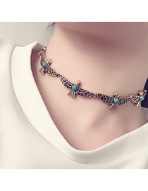Fashion Gold Color Hollow Out Pigeon Decorated Simple Choker