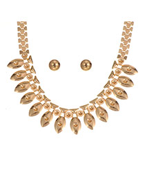 Delicate Gold Color Fish Shape Decorated Pure Color Design Jewelry Sets