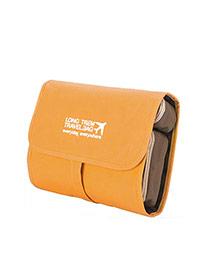 Fashion Yellow Letter&airplan Pattern Decorated Wash Gargle Bag Sets
