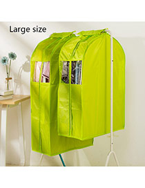Fashion Green Pure Color Decorated Three-dimensional Clothing Dustproof Cover