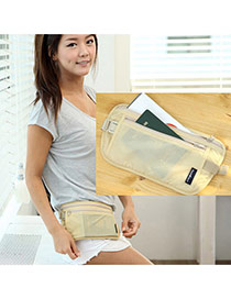 Fashion Khaki Letter Pattern Decorated Pure Color Close-fitting Pocket