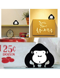 Cute Black+white Color Matching Decorated Monkey Shape Home Furnishing Articles
