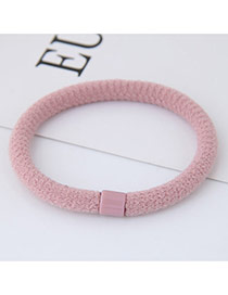 Fashion Light Pink Round Shape Decorated Pure Color Simple Hair Band