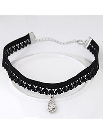 Fashion Black Transparent Choker Decorated With Pendant