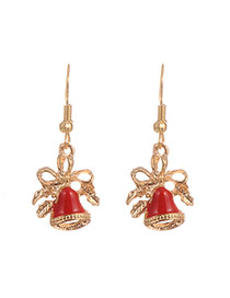 Fashion Multi-color Christmas Bell Shape Pendant Decorated Simple Earrings