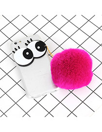 Fashion Purple Big Eyes &fuzzy Decorated Simple Iphone6/6S Case