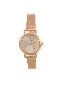 Fashion Gold Color Pure Color Decorated Simple Wrist Watch