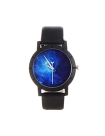 Personality Multi-color Tarry Sky Pettern Decorated Simple Wrist Watch