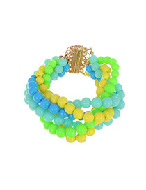 Sweet Multi-color Beads Weaving Decorated Color Matching Bracelet