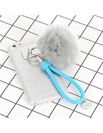 Cute Gray Fuzzy Ball Decorated Iphone7 Simple Case