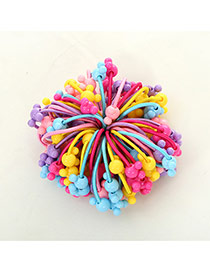 Fashion Multi-color Mice Shape Decorated Color Matching Design Simple Hair Rope(50pcs Randomly)