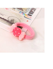 Fashion Pink Candy Shape Decorated Color Matching Design Hair Rope
