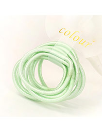 Fashion Green Pure Color Decorated Simple Hair Band (10pcs)