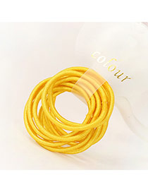 Fashion Yellow Pure Color Decorated Simple Hair Band (10pcs)