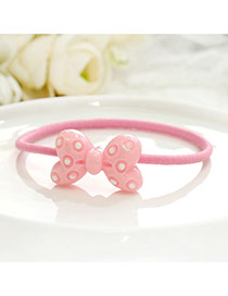 Fashion Pink Bowknot Decorated Color Matching Design Hair Band