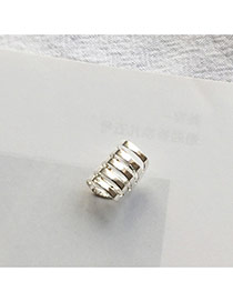 Temperament Silver Color Hollow Out Decorated Multilayer Ear Clip