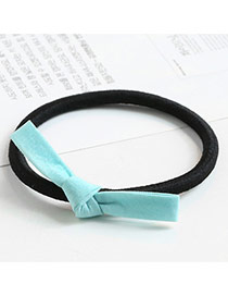 Sweet Green Color Matching Decorated Bowknot Shape Hair Band