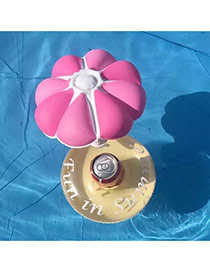 Fashion pink Umbrella Decorated Simple Aerated Cup Base