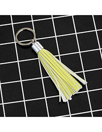 Fashion Yellow Key Chain Of Pure Color Decorated With Tassel