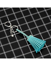 Fashion Green Key Chain Of Pure Color Decorated With Rivets