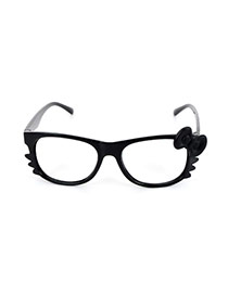 Lovely Black Cat Design Simple Square Shape Glasses Frame